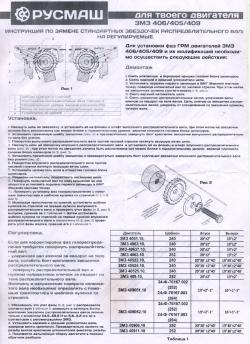 Двухрядный комплект ГРМ